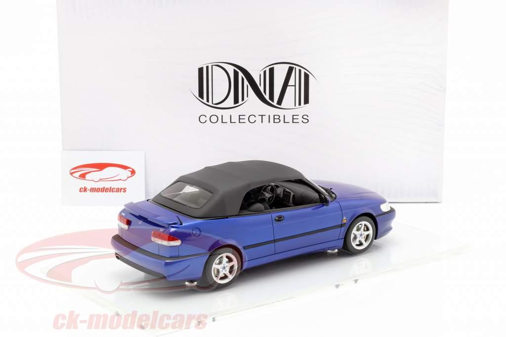 Saab 9-3 Viggen Convertible year 1999 dark blue 1:18 DNA Collectibles