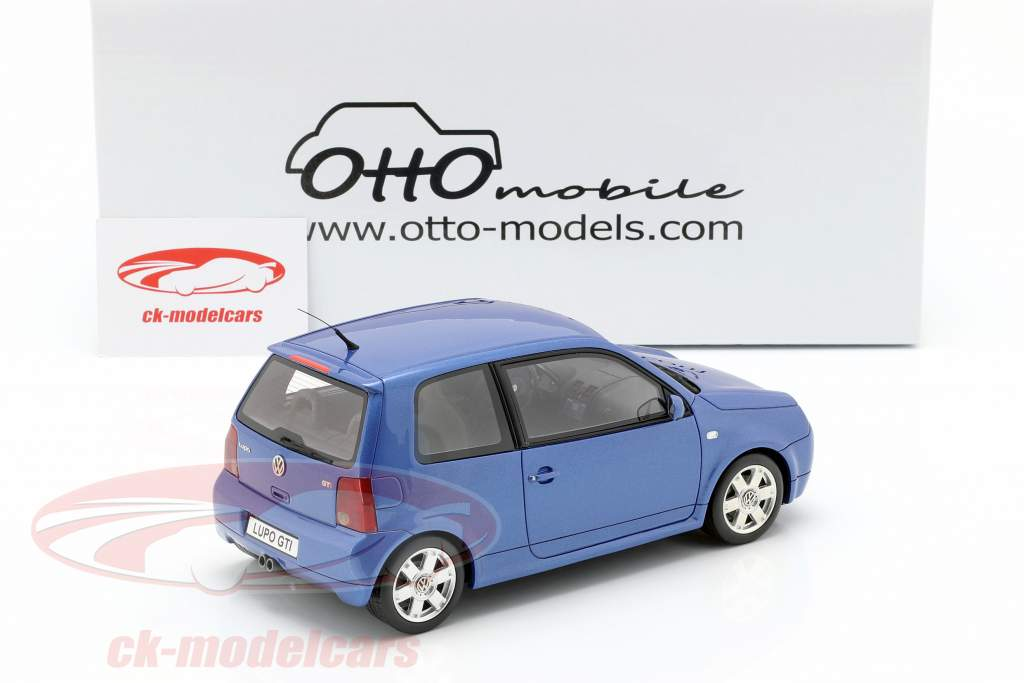 Volkswagen VW Lupo GTI año de construcción 2000 azul metálico 1:18 OttOmobile