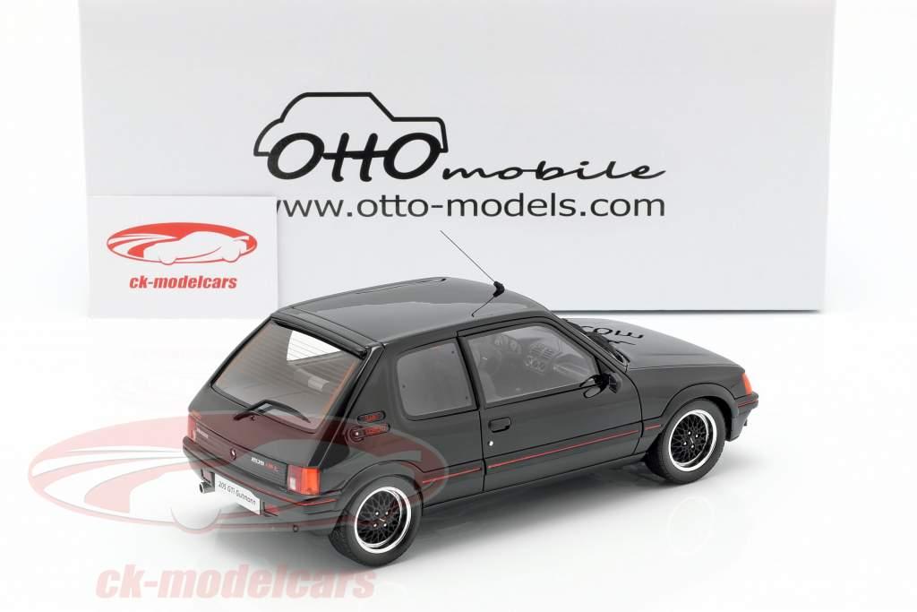 Peugeot 205 GTI Gutmann année de construction 1988 noir 1:18 OttOmobile