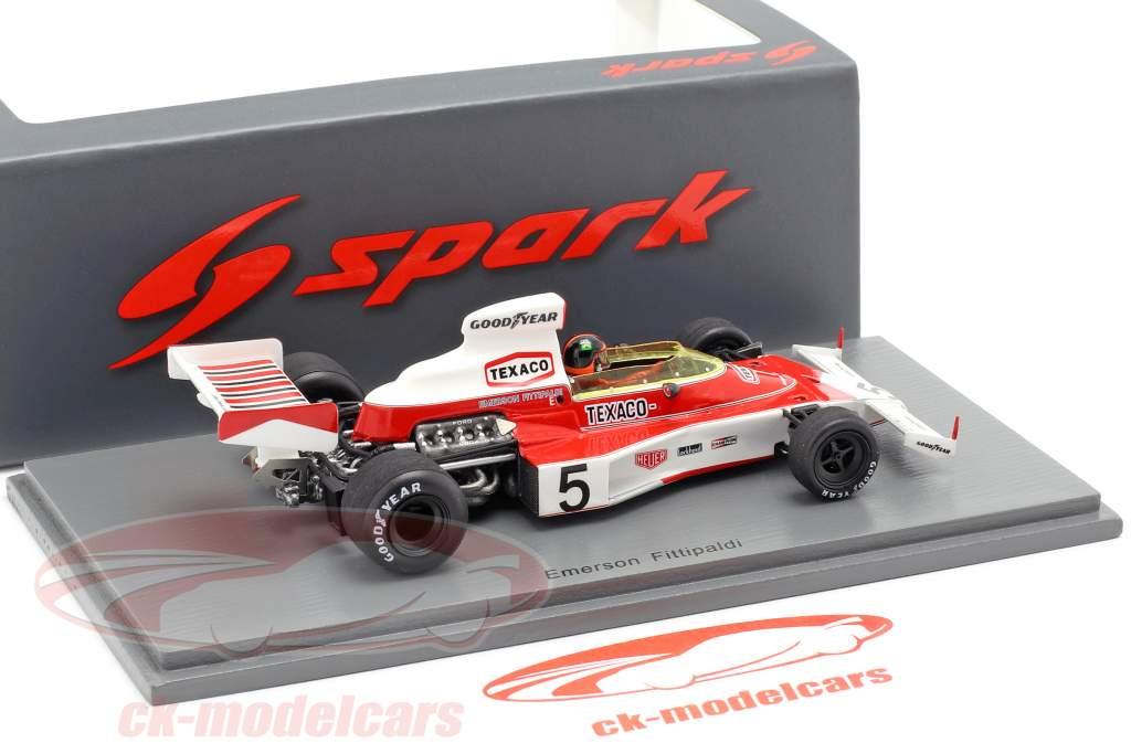 Emerson Fittipaldi McLaren M23 #5 campione del mondo monaco GP formula 1 1974 1:43 Spark