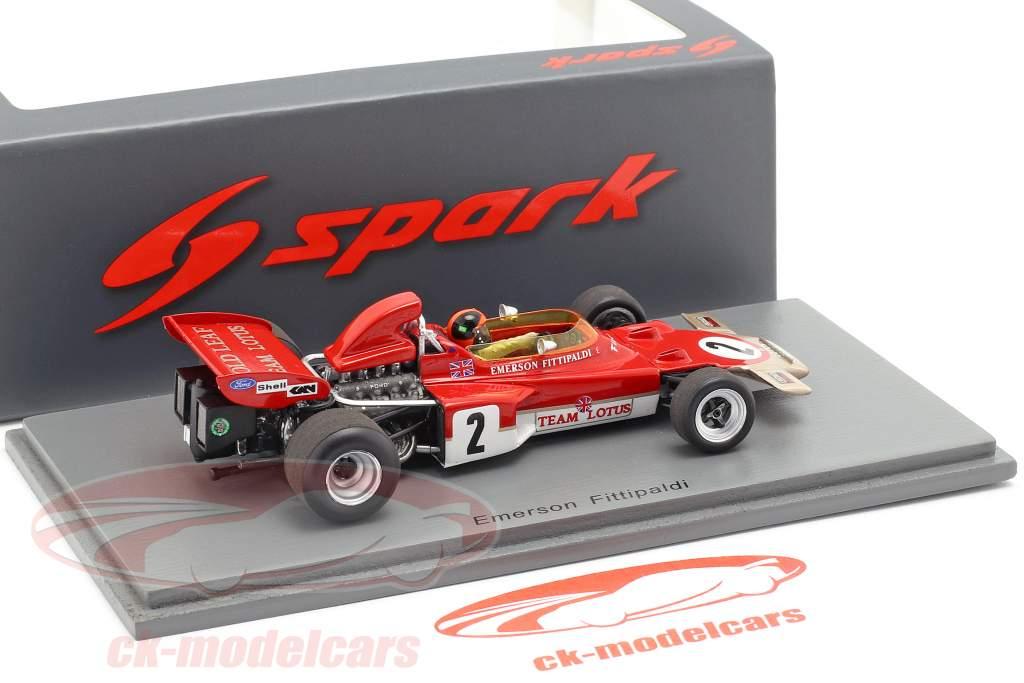 Emerson Fittipaldi Lotus 72D #2 2 Autriche GP formule 1 1971 1:43 Spark