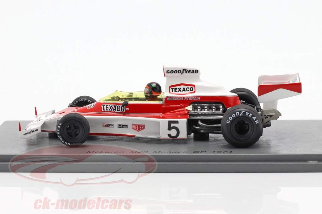 Emerson Fittipaldi McLaren M23 #5 champion du monde Monaco GP formule 1 1974 1:43 Spark