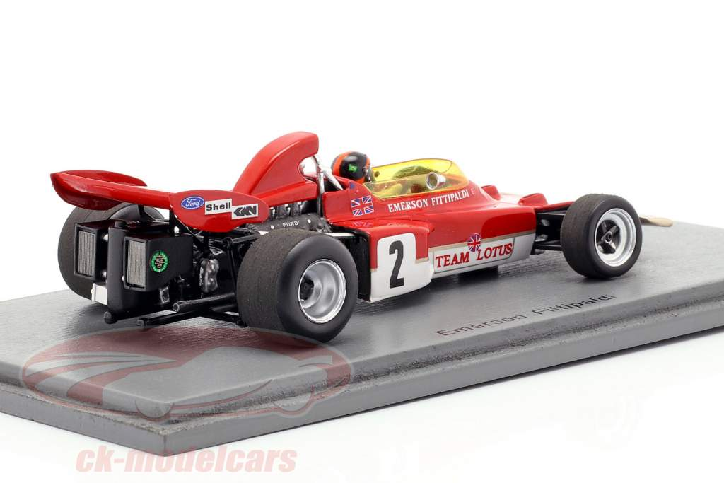 Emerson Fittipaldi Lotus 72D #2 2nd Austria GP formula 1 1971 1:43 Spark