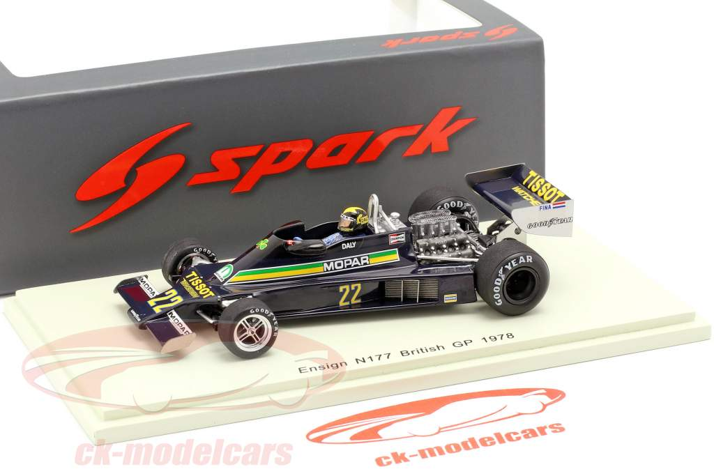 Derek Daly Ensign N177 #22 grande-Bretagne GP formule 1 1978 1:43 Spark