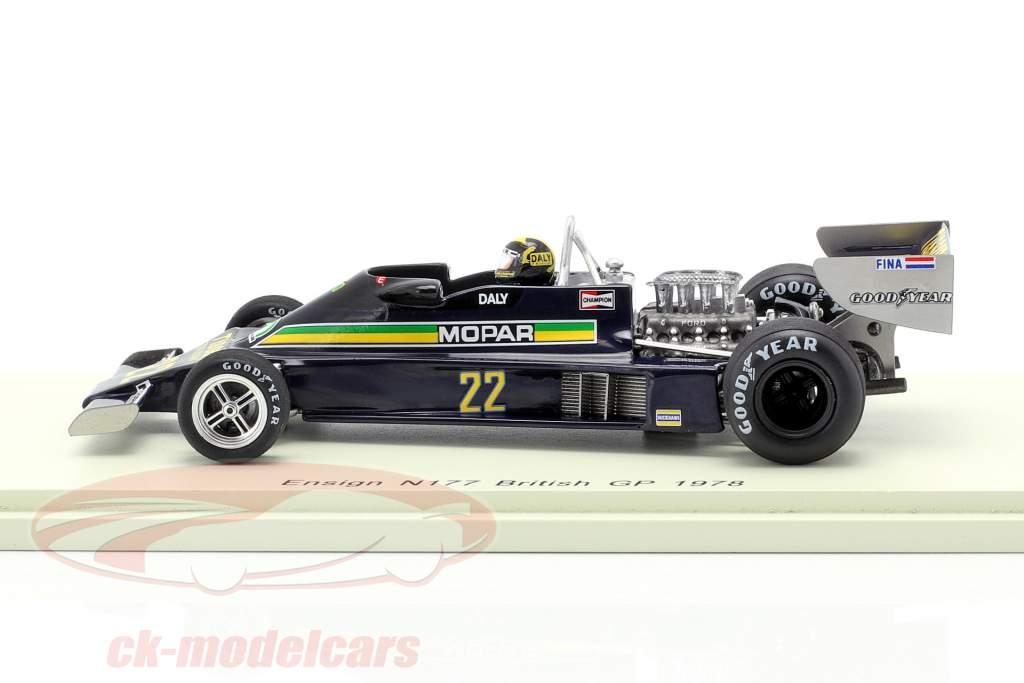 Derek Daly Ensign N177 #22 gran Bretaña GP fórmula 1 1978 1:43 Spark