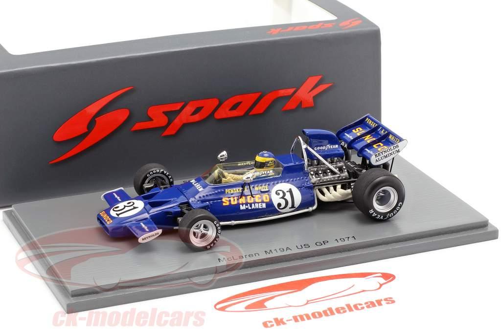 David Hobbs McLaren M19A #31 United States GP formula 1 1971 1:43 Spark