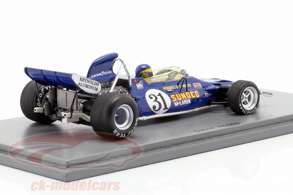 David Hobbs McLaren M19A #31 EUA GP fórmula 1 1971 1:43 Spark