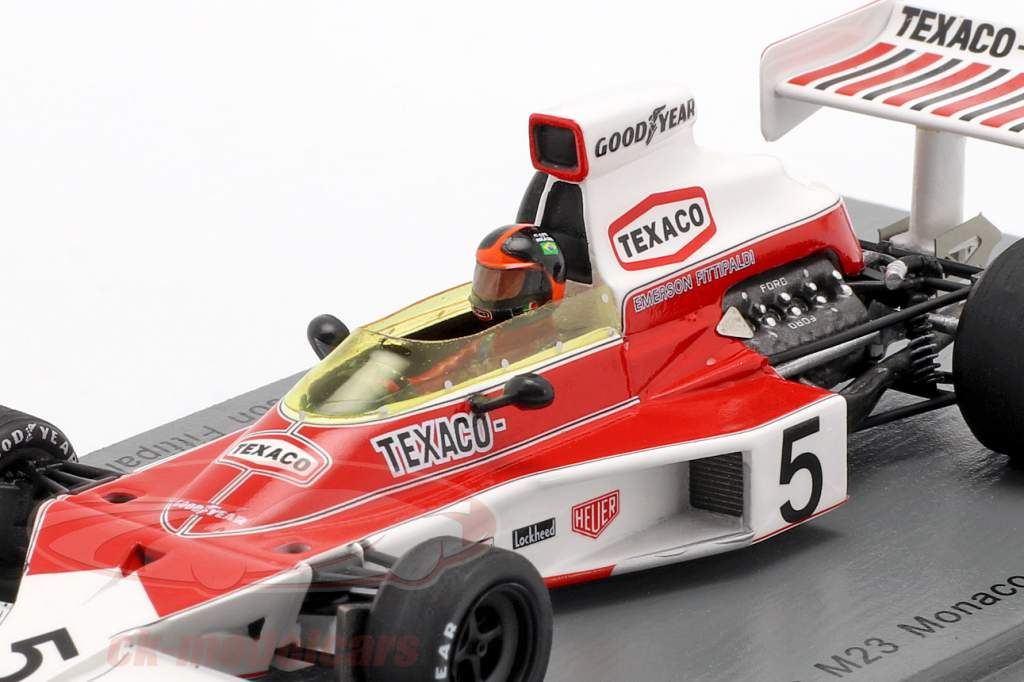 Emerson Fittipaldi McLaren M23 #5 verdensmester Monaco GP formel 1 1974 1:43 Spark