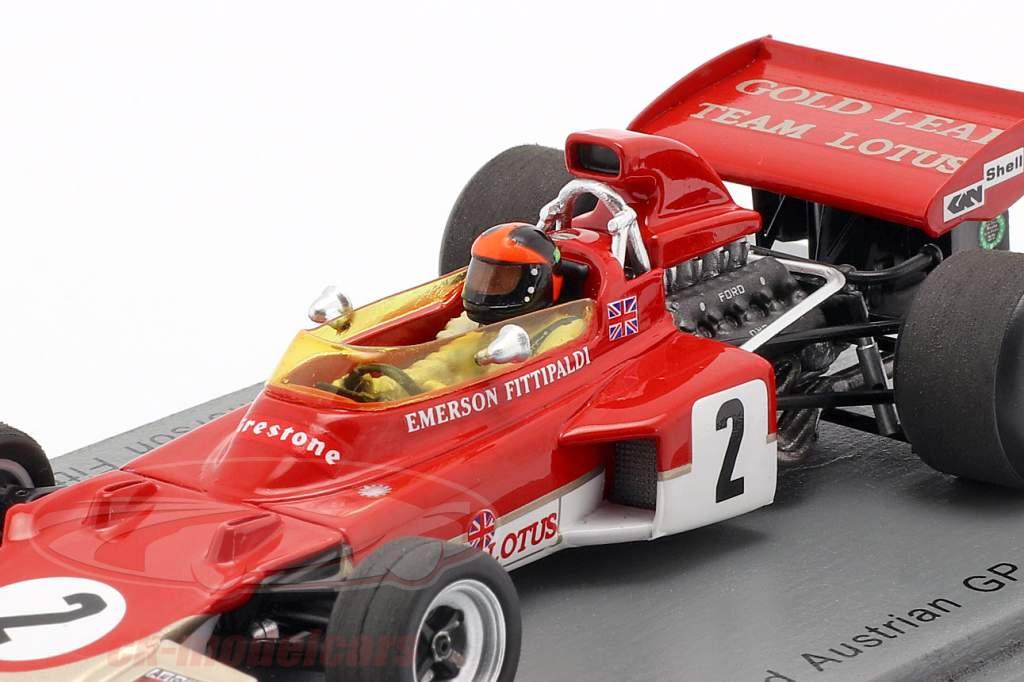 Emerson Fittipaldi Lotus 72D #2 2nd Österreich GP Formel 1 1971 1:43 Spark