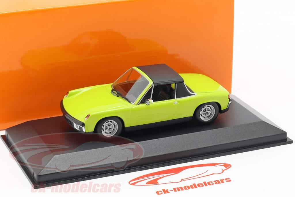Volkswagen VW-Porsche 914/4 année de construction 1972 vert 1:43 Minichamps