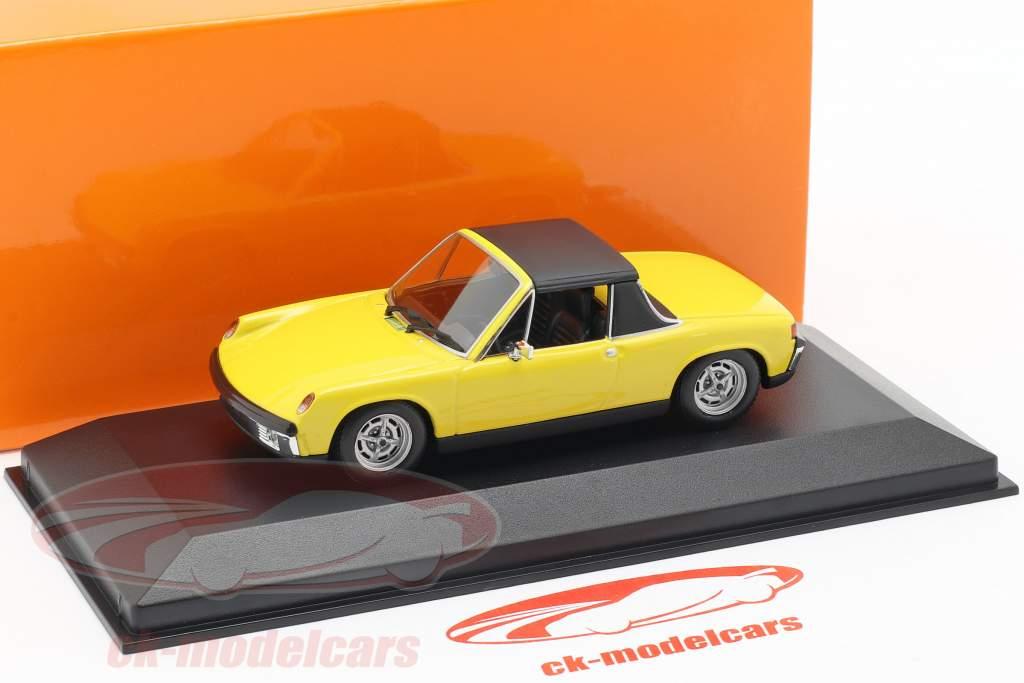 Volkswagen VW-Porsche 914/4 anno di costruzione 1972 giallo 1:43 Minichamps