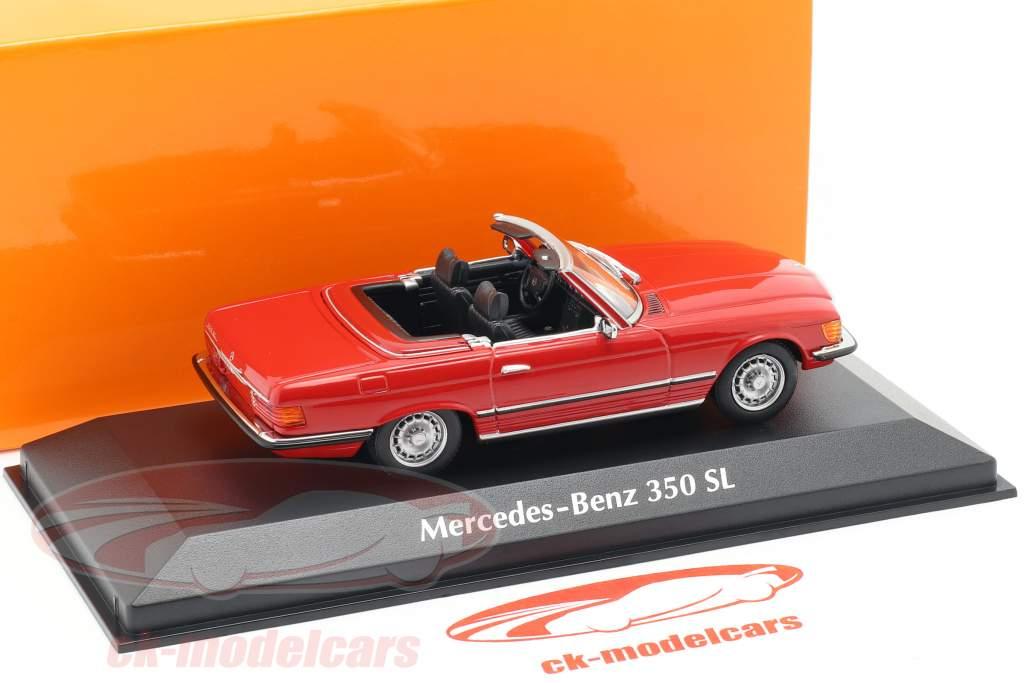 Mercedes-Benz 350 SL cabriolet (W107) anno di costruzione 1974 rosso 1:43 Minichamps