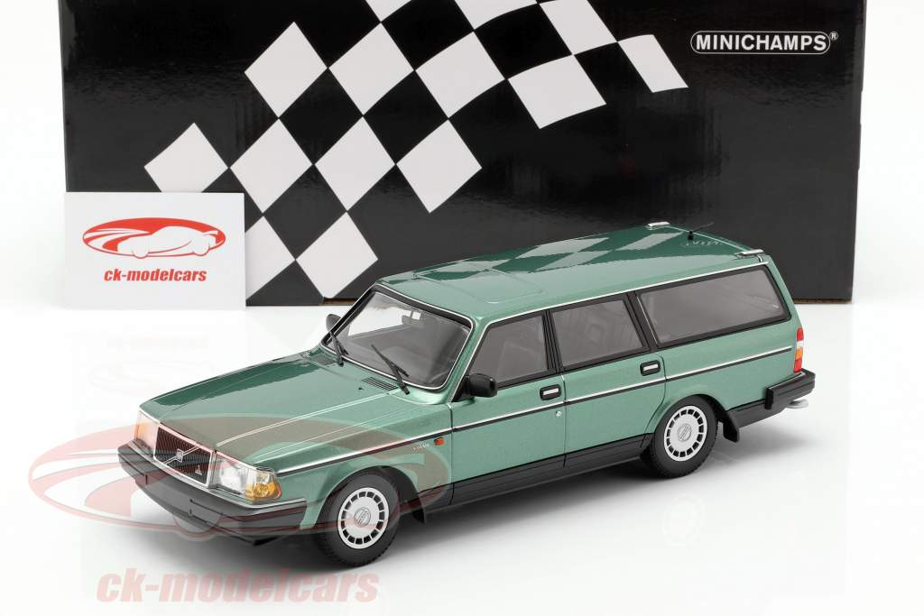 Volvo 240 GL Break anno di costruzione 1986 verde metallico 1:18 Minichamps