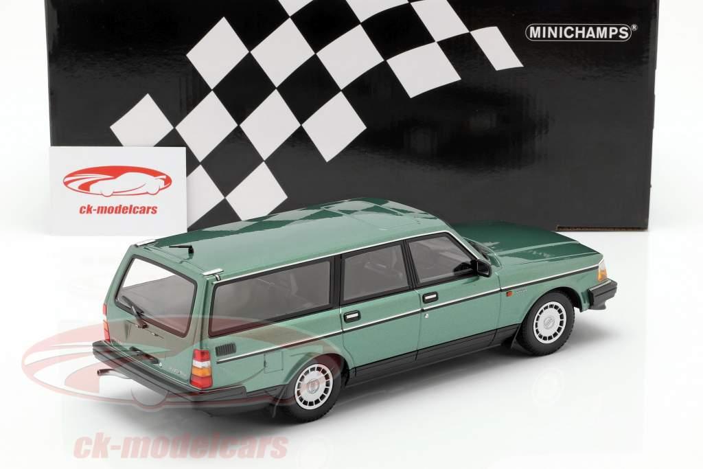 Volvo 240 GL Break Opførselsår 1986 grøn metallisk 1:18 Minichamps