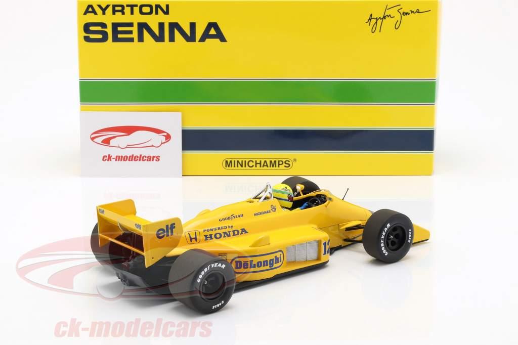 Ayrton Senna Lotus 99T #12 winnaar Monaco GP formule 1 1987 1:18 Minichamps