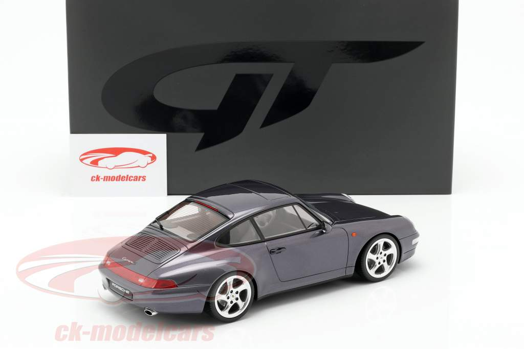 Porsche 911 (993) Carrera S Split Grill year 1998 dark purple metallic 1:18 GT-SPIRIT