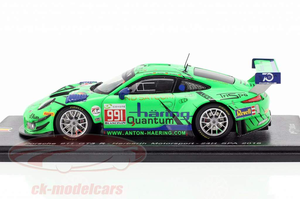 Porsche 911 GT3 R #991 24h Spa 2018 Häring, Görig, Triller, Renauer 1:43 Spark