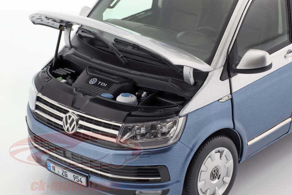 Volkswagen VW Multivan T6 Generation Six blau / silber 1:18 NZG