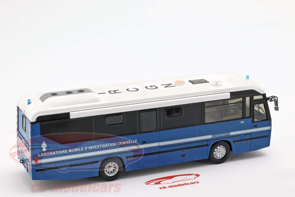 Lohr L96 IRCGN autobus della polizia Francia anno di costruzione 1996 blu 1:43 Altaya