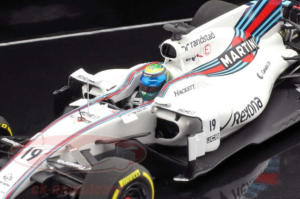 2-Car ensemble Williams F1 40 anniversaire A. Jones 1978 et F. Massa 2017 1:43 Minichamps