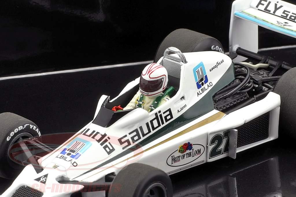 2-Car conjunto Williams F1 40a aniversario A. Jones 1978 y F. Massa 2017 1:43 Minichamps