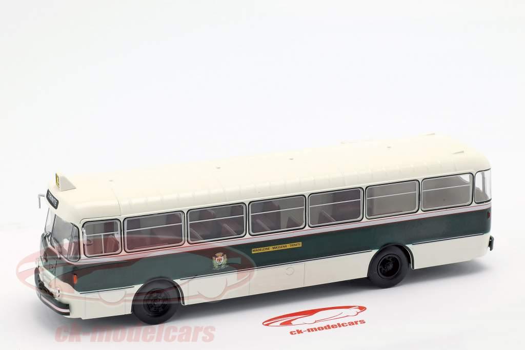 Berliet PLR 8 MU bus Frankrig Opførselsår 1956 mørkegrøn / hvid 1:43 Altaya