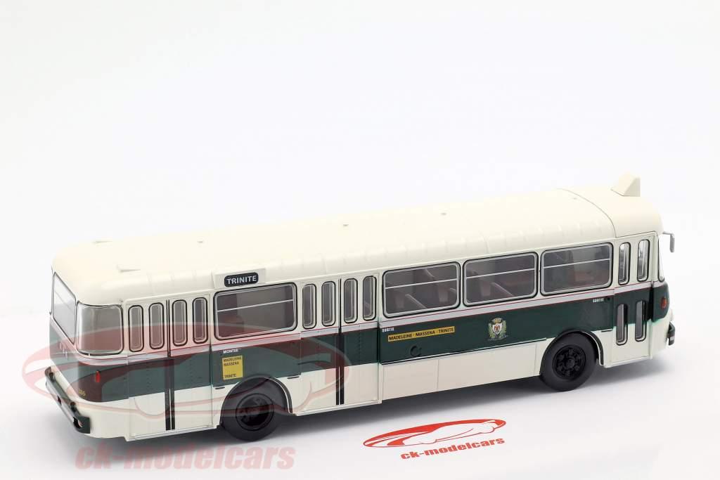 Berliet PLR 8 MU bus Frankrijk Bouwjaar 1956 donkergroen / wit 1:43 Altaya