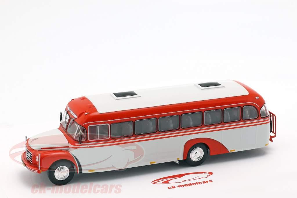 Volvo B 375 ônibus Suécia ano de construção 1957 vermelho / branco 1:43 Altaya