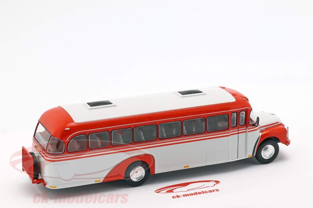 Volvo B 375 autobús Suecia año de construcción 1957 rojo / blanco 1:43 Altaya