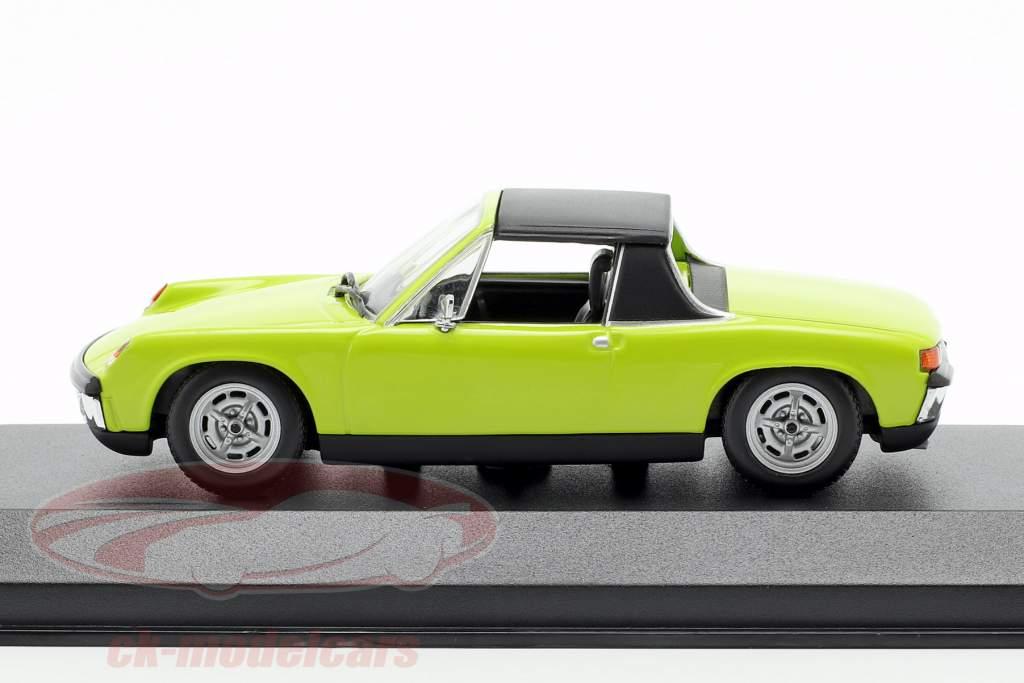 Volkswagen VW-Porsche 914/4 Bouwjaar 1972 groen 1:43 Minichamps