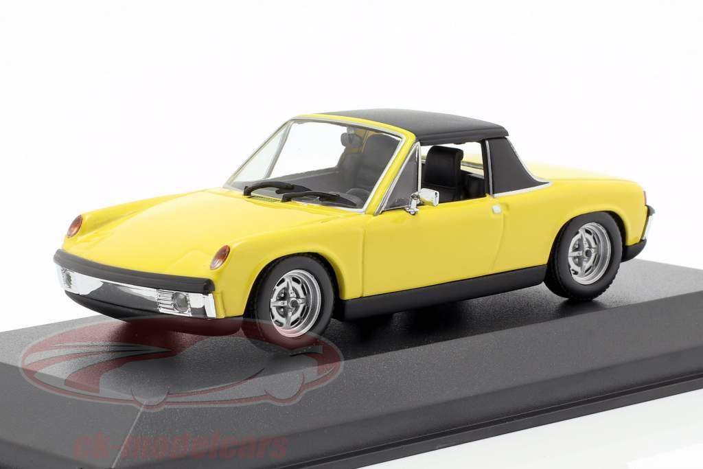 Volkswagen VW-Porsche 914/4 Bouwjaar 1972 geel 1:43 Minichamps