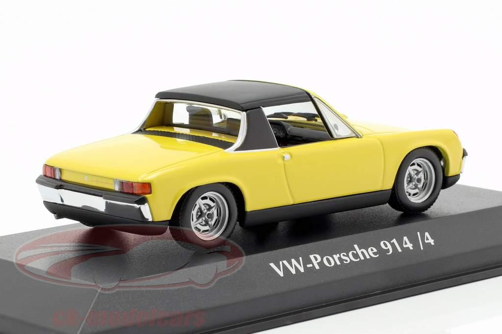 Volkswagen VW-Porsche 914/4 Baujahr 1972 gelb 1:43 Minichamps