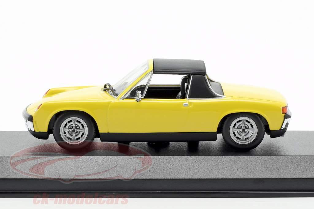 Volkswagen VW-Porsche 914/4 année de construction 1972 jaune 1:43 Minichamps