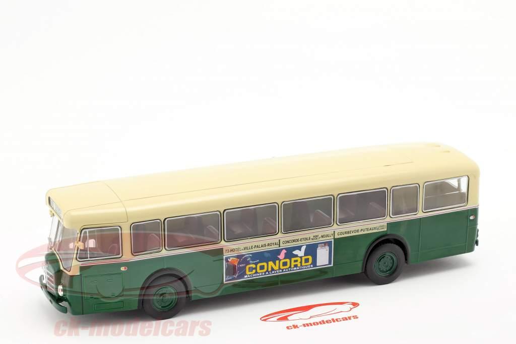 Berliet PCS10 bus Frankrijk Bouwjaar 1960 donkergroen / beige 1:43 Altaya
