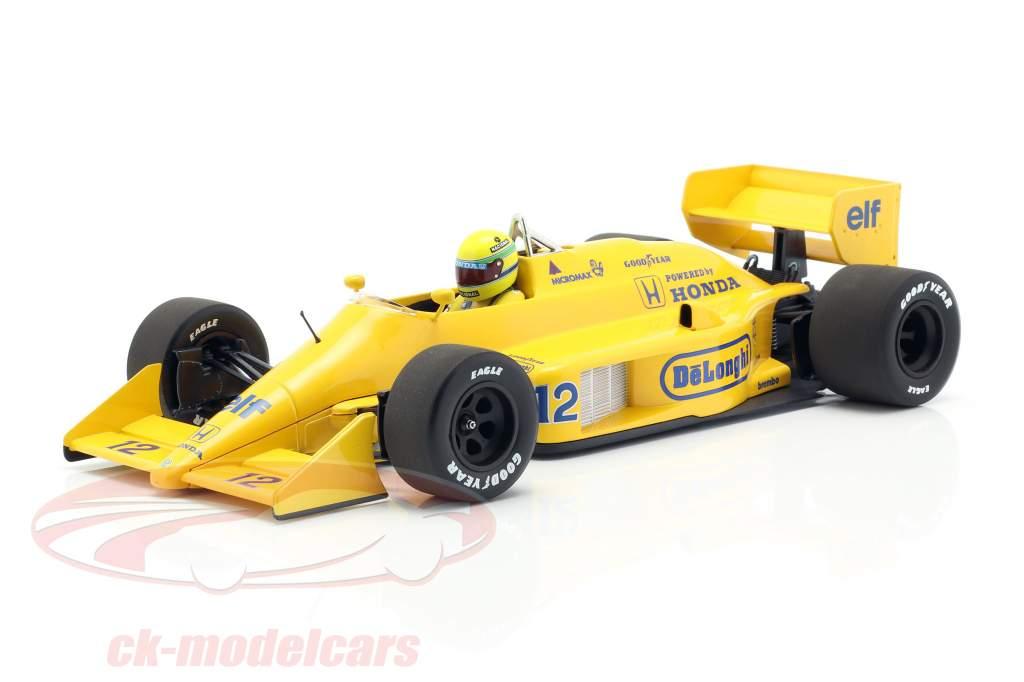 Ayrton Senna Lotus 99T #12 ganador Mónaco GP fórmula 1 1987 1:18 Minichamps