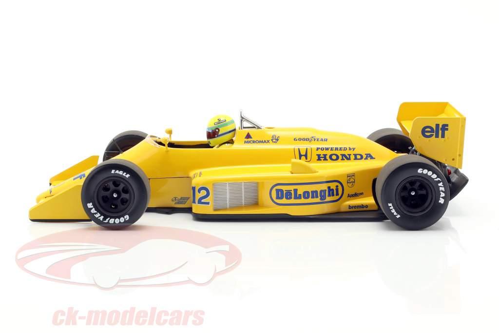Ayrton Senna Lotus 99T #12 vencedor monaco GP fórmula 1 1987 1:18 Minichamps