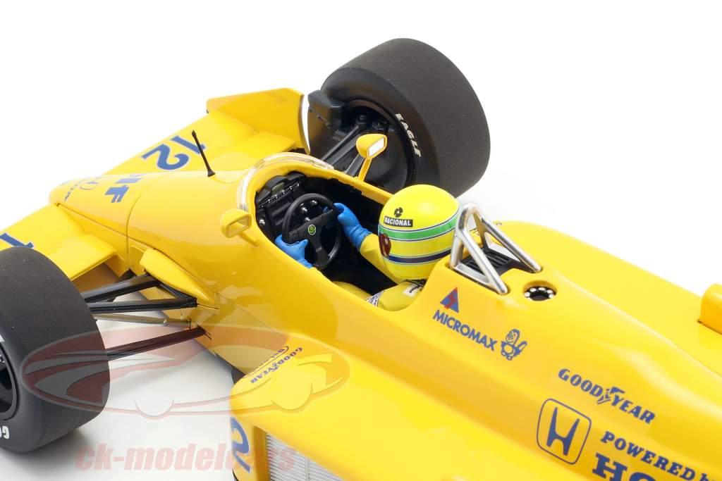 Ayrton Senna Lotus 99T #12 Vinder Monaco GP formel 1 1987 1:18 Minichamps