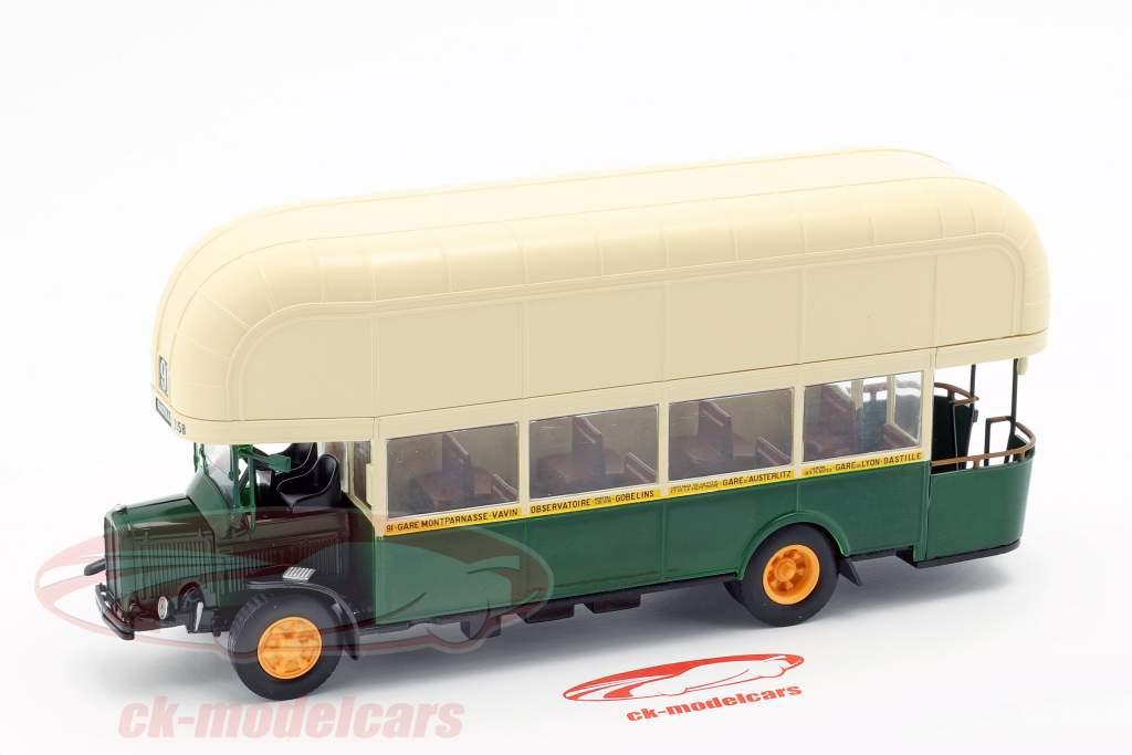 Renault TN4F bus Frankrijk Bouwjaar 1940 donkergroen / beige 1:43 Altaya