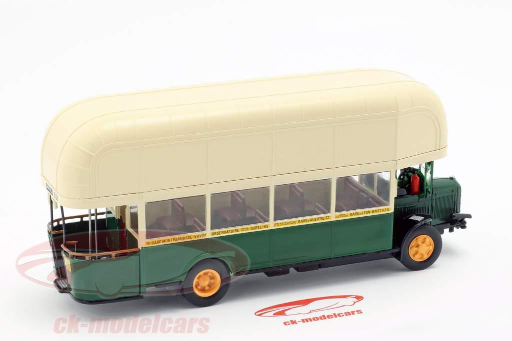 Renault TN4F bus Frankrig Opførselsår 1940 mørkegrøn / beige 1:43 Altaya