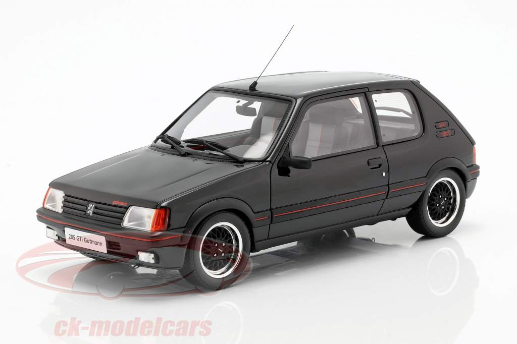 Peugeot 205 GTI Gutmann ano de construção 1988 preto 1:18 OttOmobile