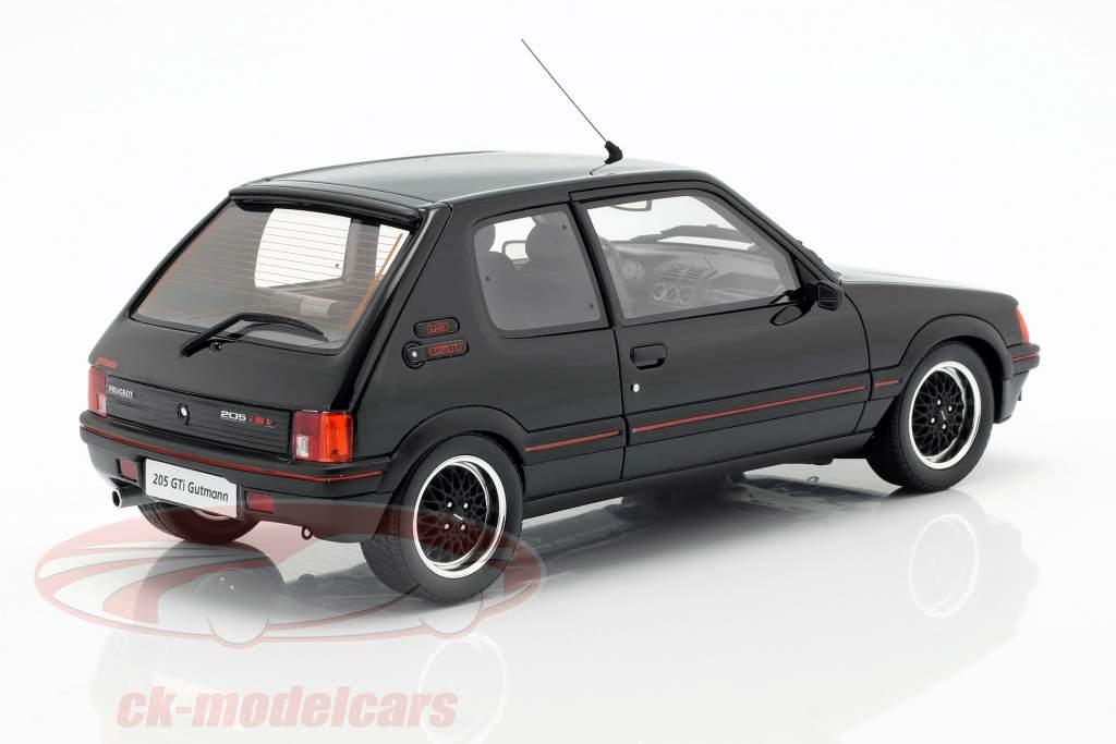 Peugeot 205 GTI Gutmann anno di costruzione 1988 nero 1:18 OttOmobile