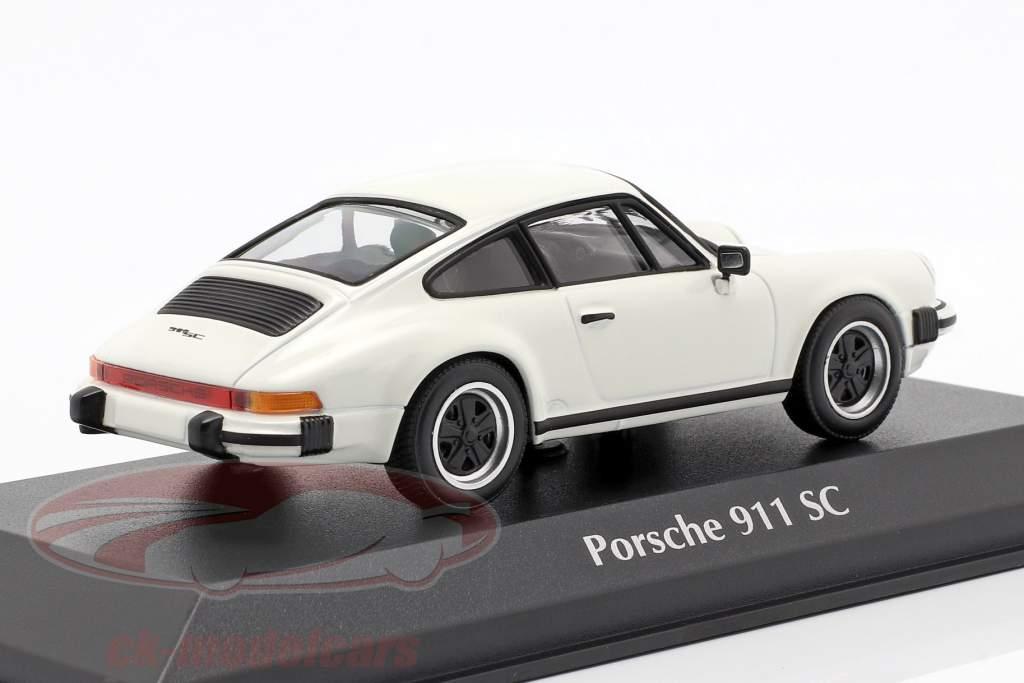 Porsche 911 SC Baujahr 1979 branco 1:43 Minichamps
