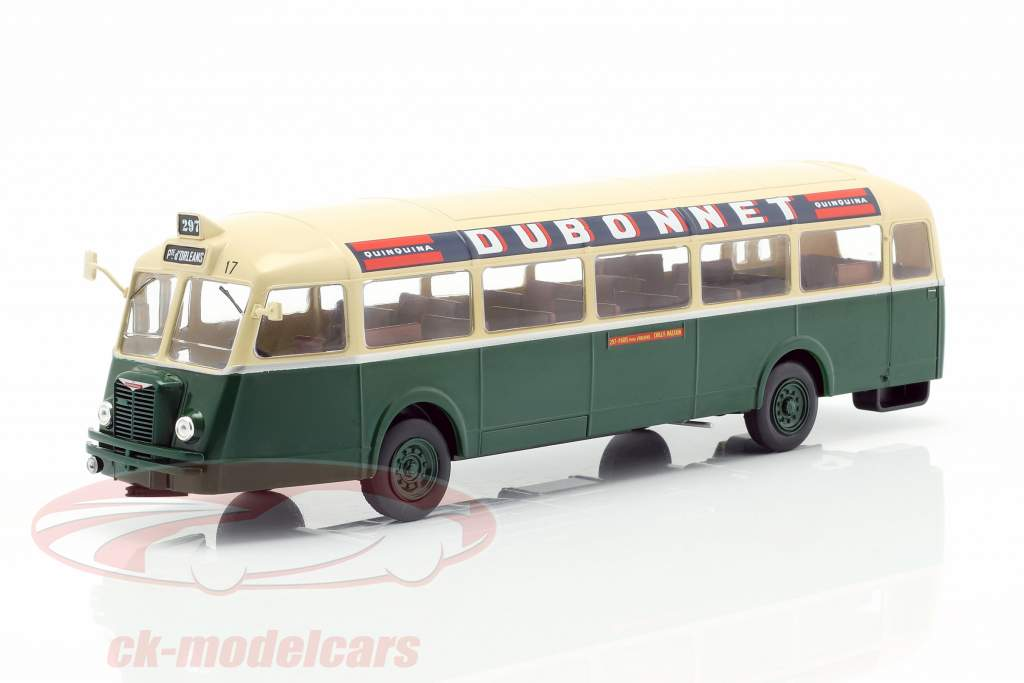 Chausson AP-47 RATP autobús Francia año de construcción 1947 verde oscuro / crema 1:43 Altaya