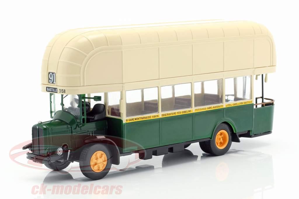 Renault TN4F Bus Frankreich Baujahr 1940 dunkelgrün / beige 1:43 Altaya
