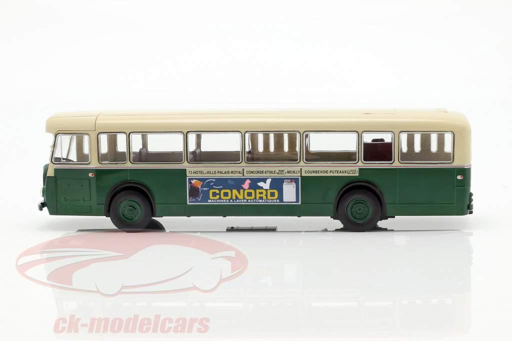Berliet PCS10 autobus Francia anno di costruzione 1960 verde scuro / beige 1:43 Altaya