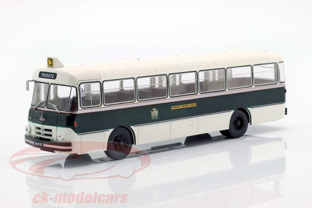 Berliet PLR 8 MU autobus Francia anno di costruzione 1956 verde scuro / bianco 1:43 Altaya