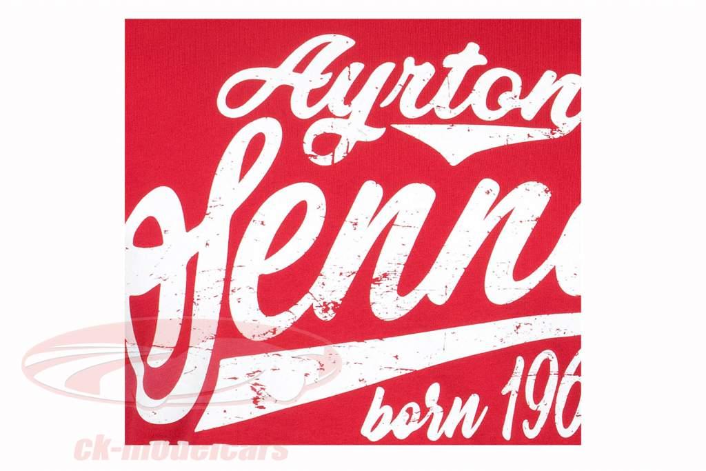 Ayrton Senna Maglietta fonte in Brasil rosso
