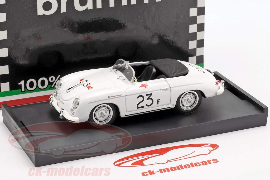 Porsche 356 Speedster #23F paume ressorts route course 1955 James Dean 1:43 Brumm