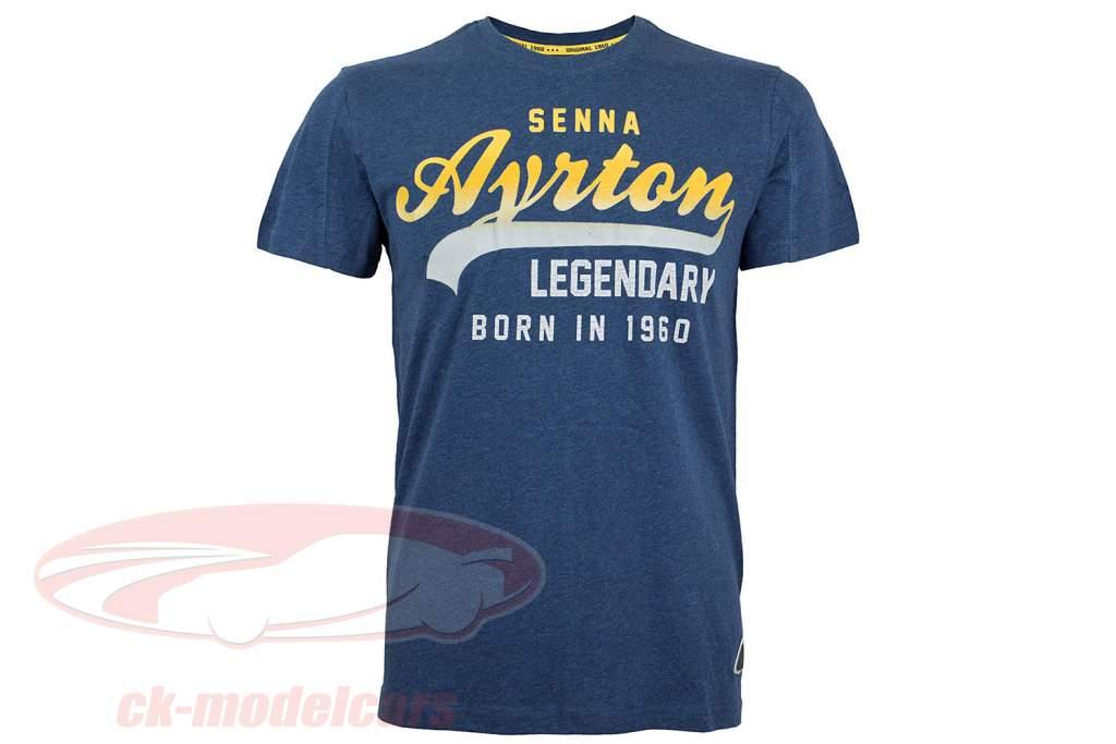 Ayrton Senna Camiseta vintage azul