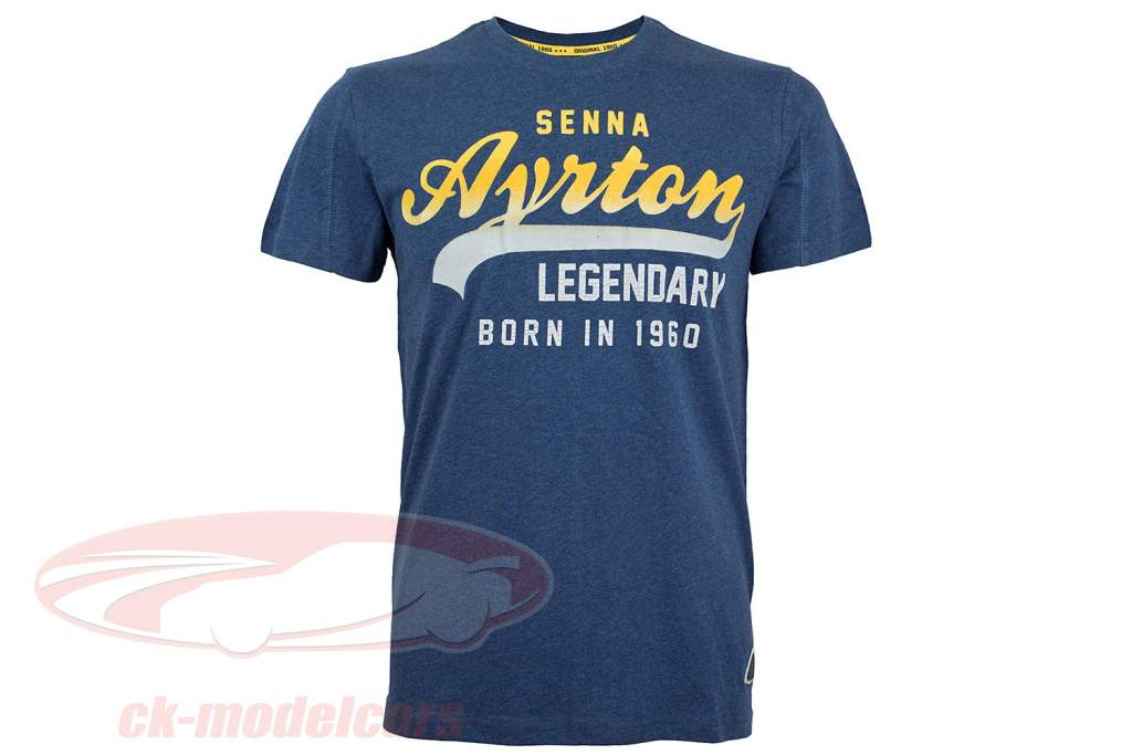 Ayrton Senna Maglietta annata blu